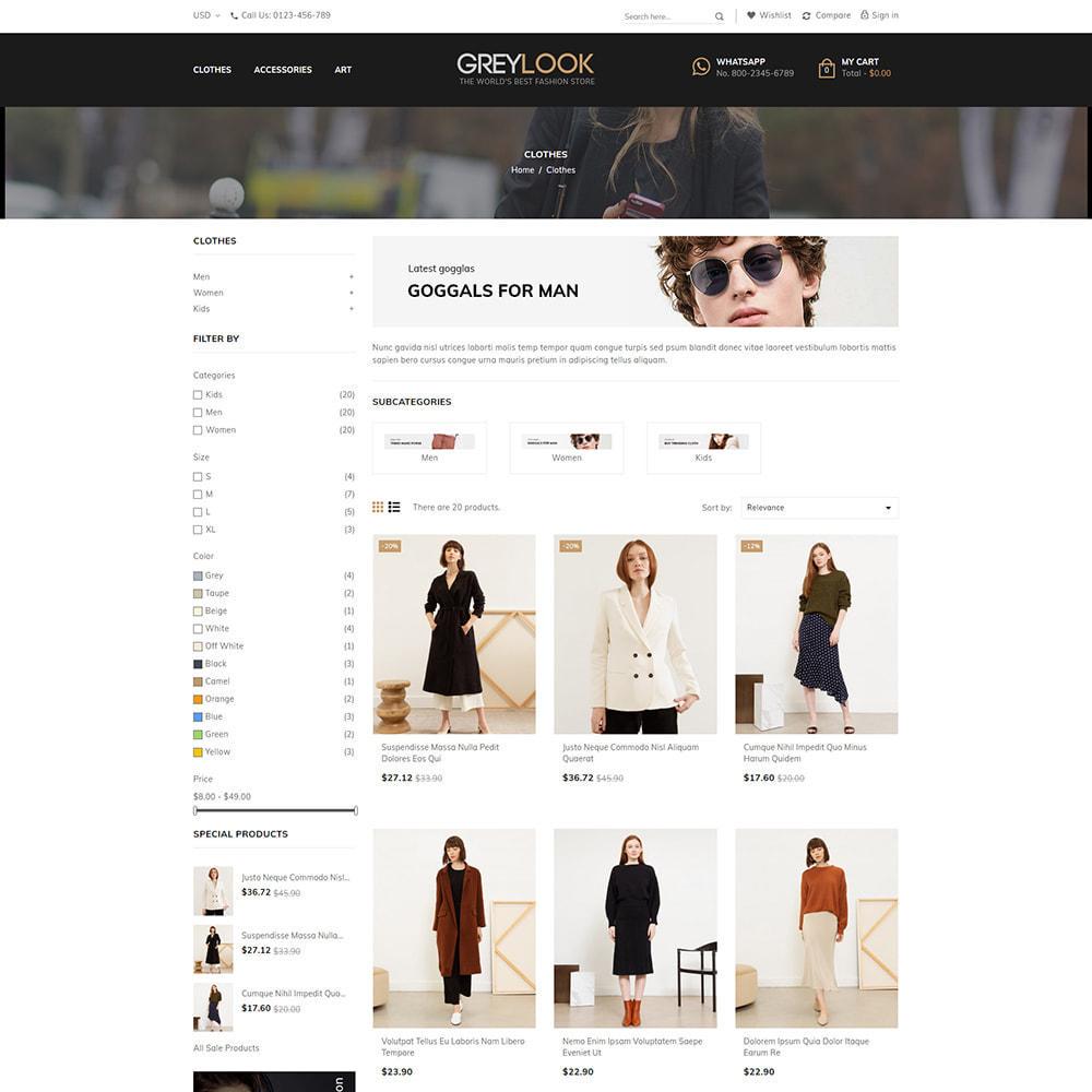 theme - Moda y Calzado - Grey Look - Fashion Store - 3