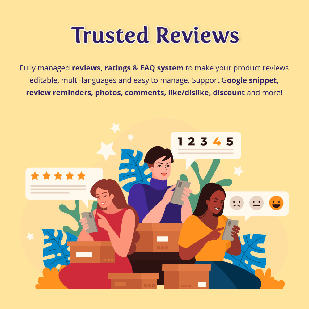 module - Opinie klientów - Trusted Reviews: Product reviews, ratings, Q&A - 1