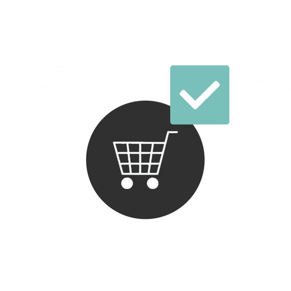 module - Pегистрации и оформления заказа - Add to cart checkbox - 1