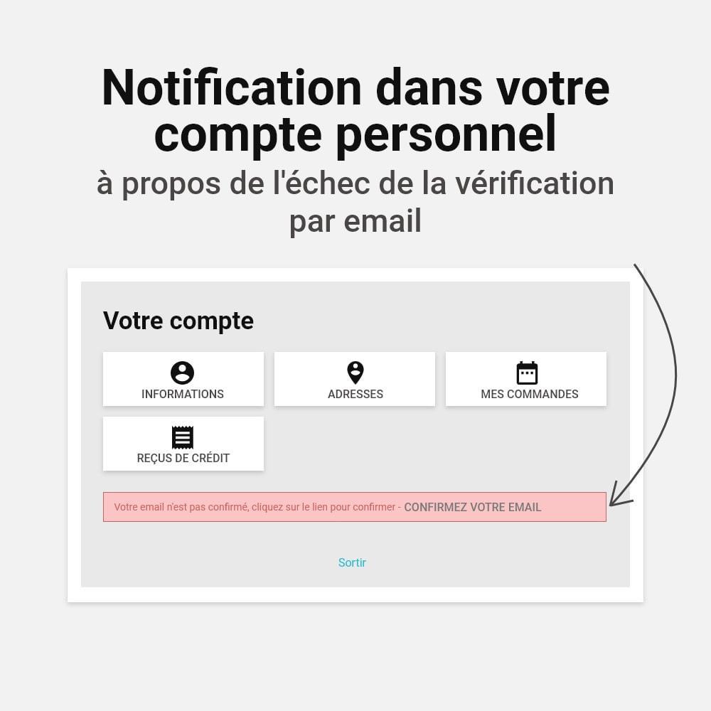 module - E-mails & Notifications - Confirmer l'adresse e-mail - 5