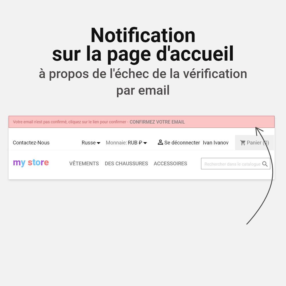 module - E-mails & Notifications - Confirmer l'adresse e-mail - 6