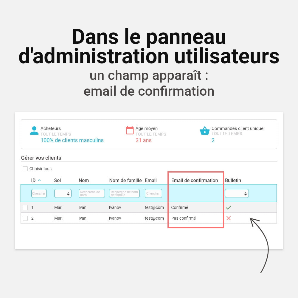 module - E-mails & Notifications - Confirmer l'adresse e-mail - 7