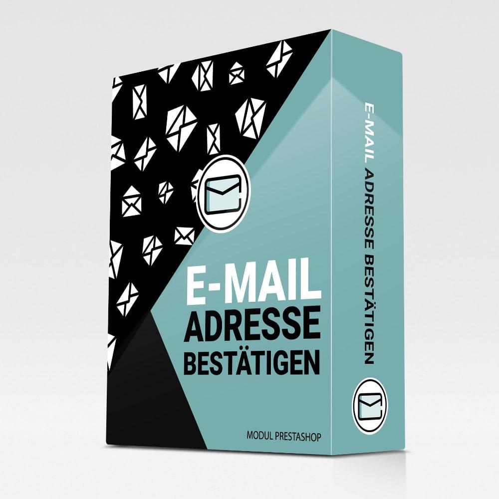 module - E-Mails & Benachrichtigungen - E-Mail Adresse bestätigen - 1