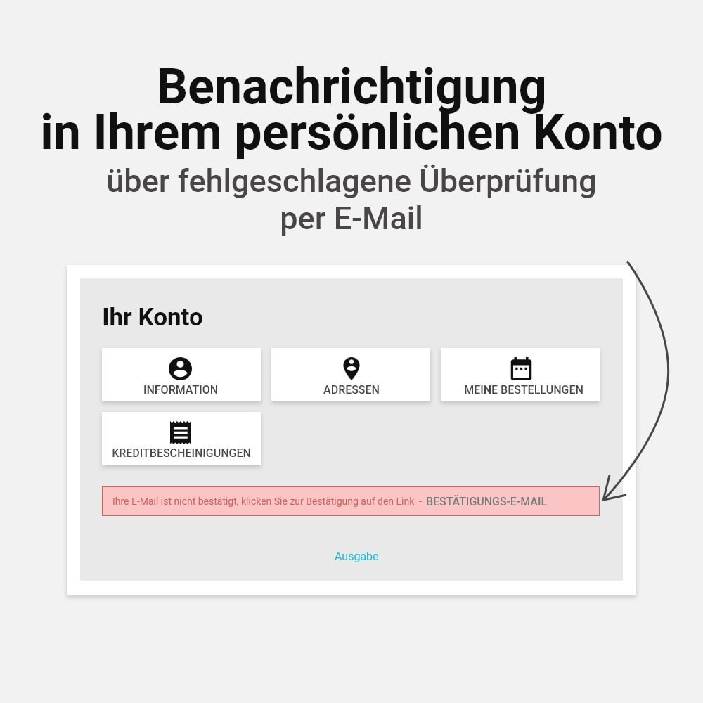 module - E-Mails & Benachrichtigungen - E-Mail Adresse bestätigen - 5