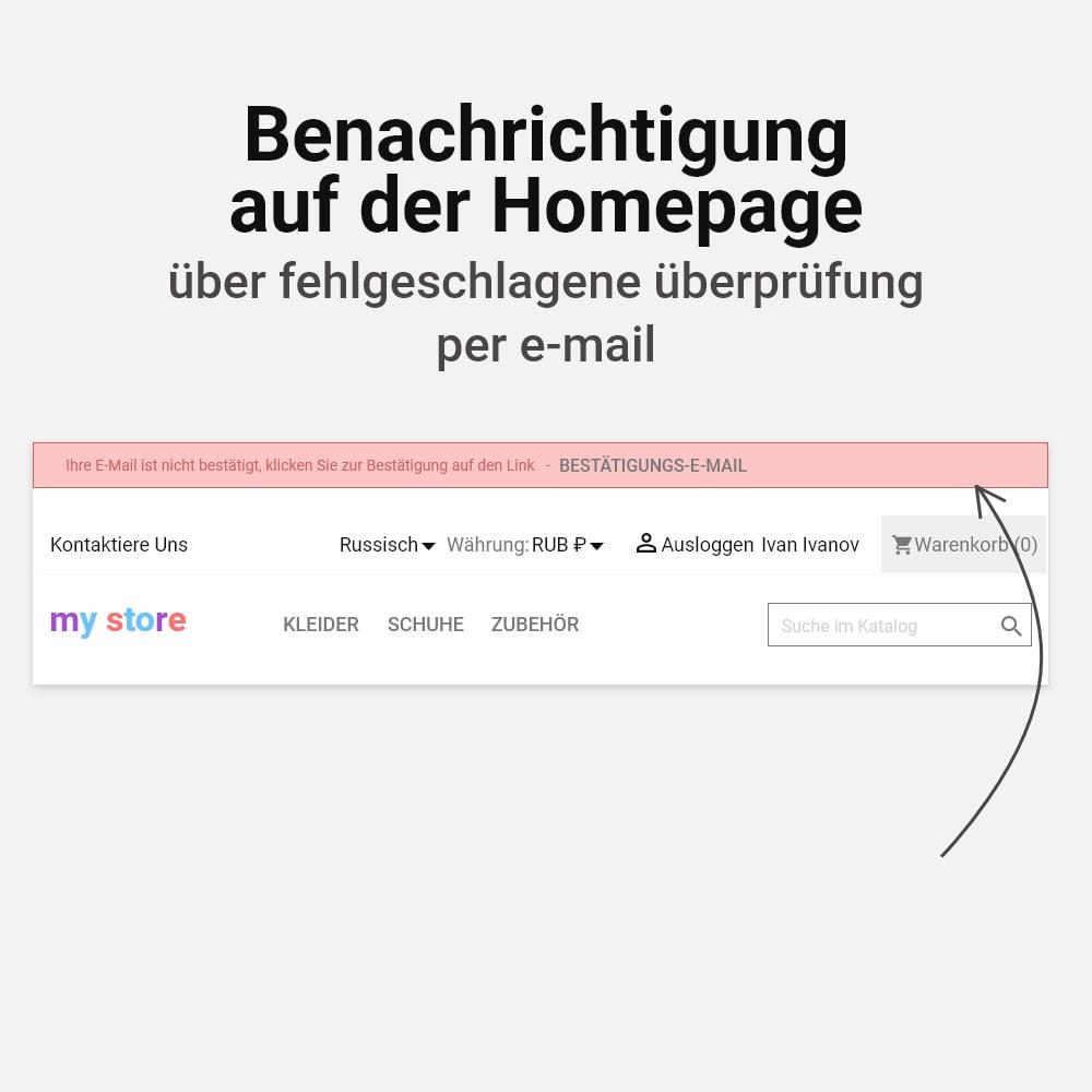 module - E-Mails & Benachrichtigungen - E-Mail Adresse bestätigen - 6