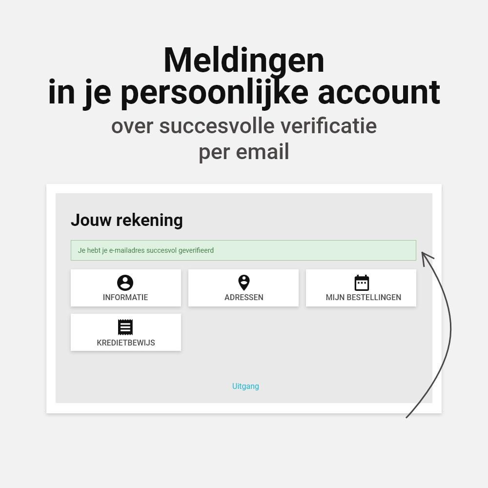 module - Emails & Notificaties - Email verificatie - 4