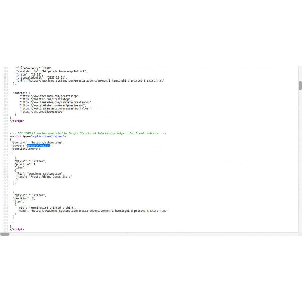 module - SEO - Gestructureerde gegevens Schema Markup & Rich Snippet - 5