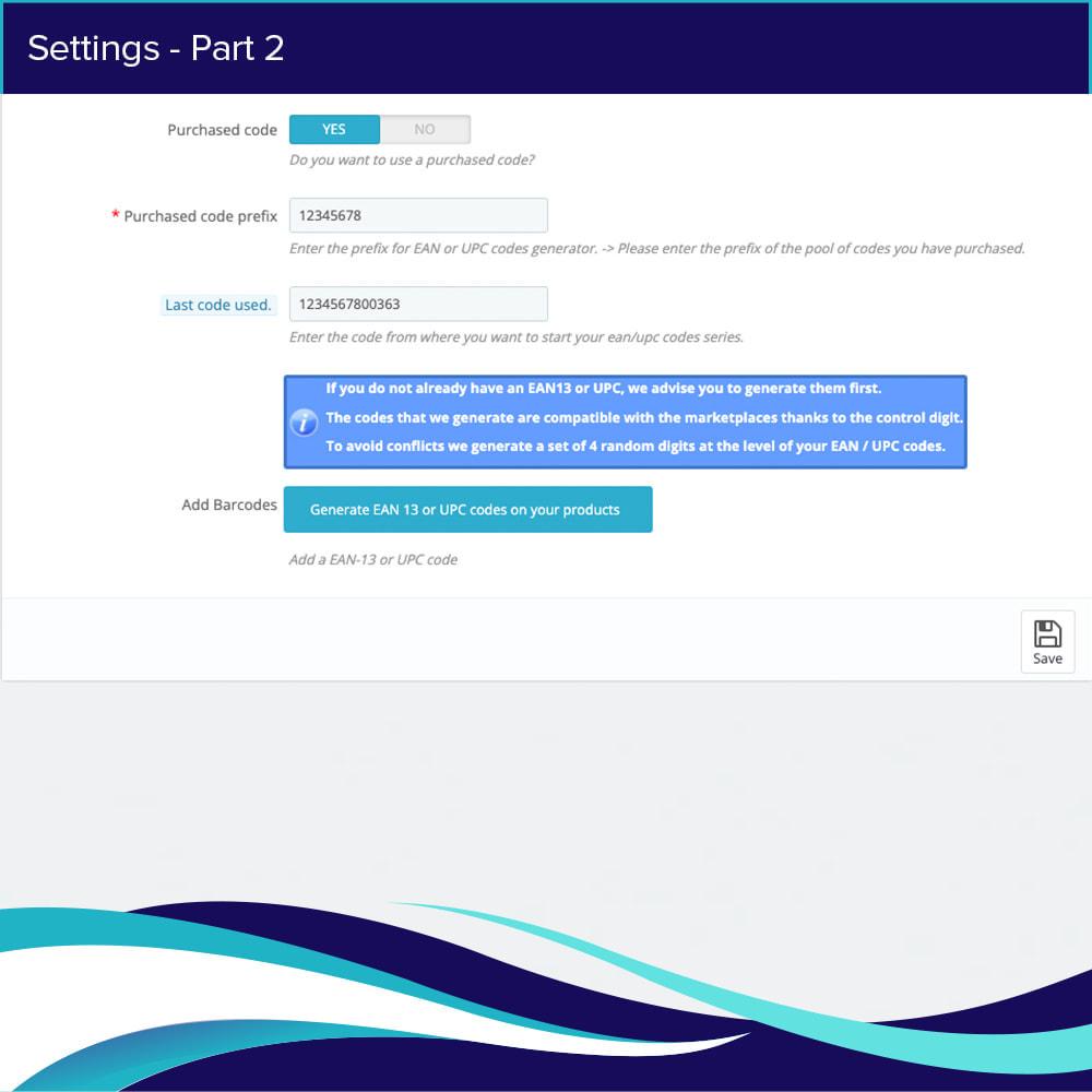 module - Bestands & Lieferantenmanagement - EAN-UPC Codegenerator - 3