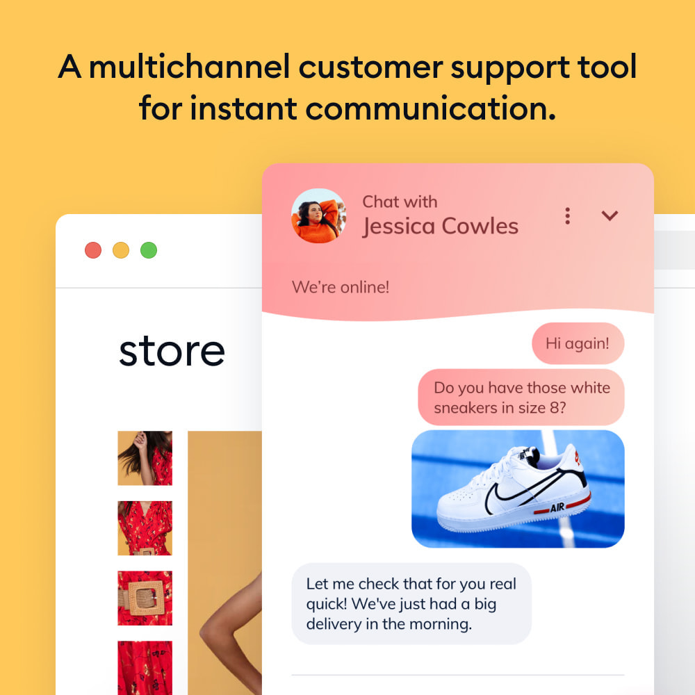 module - Support & Online Chat - Chatbots, Live Chat and Messenger by Tidio - 1