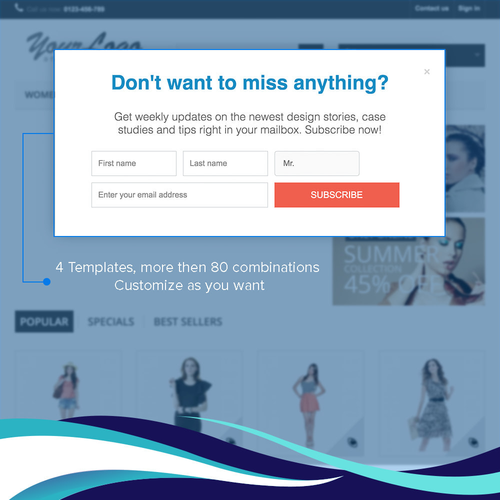 module - Newsletter & SMS - Newsletter Popup PRO with Voucher/Coupon code - 2