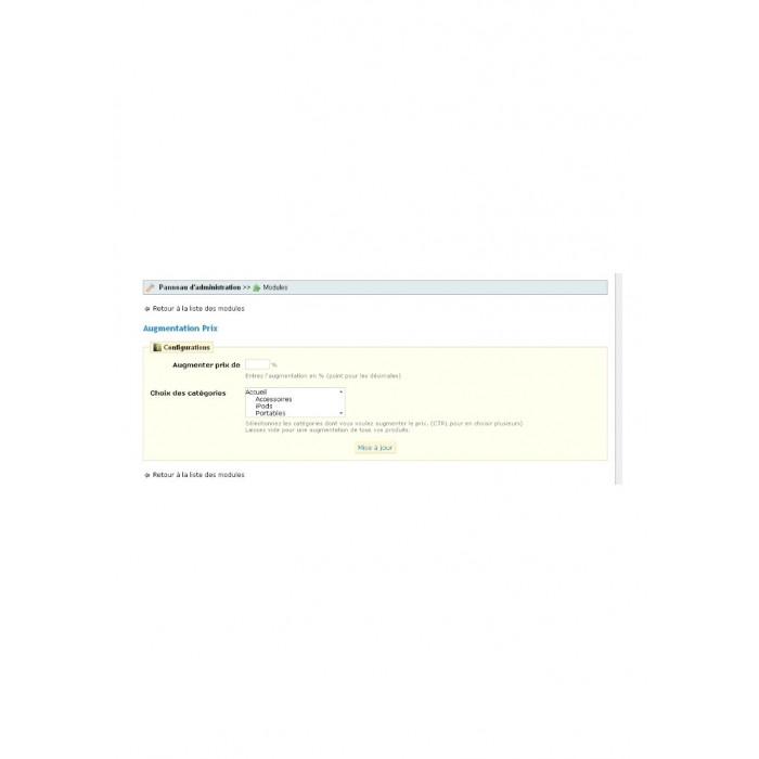 module - Snelle & seriematige bewerking - Augmentation Prix - 1