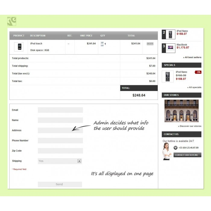module - Registration & Ordering Process - Fast Checkout - 1