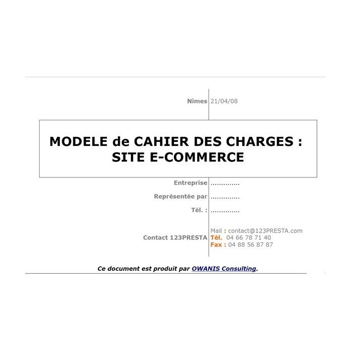 other - User Guide - Model specification for e-commerce site - 2