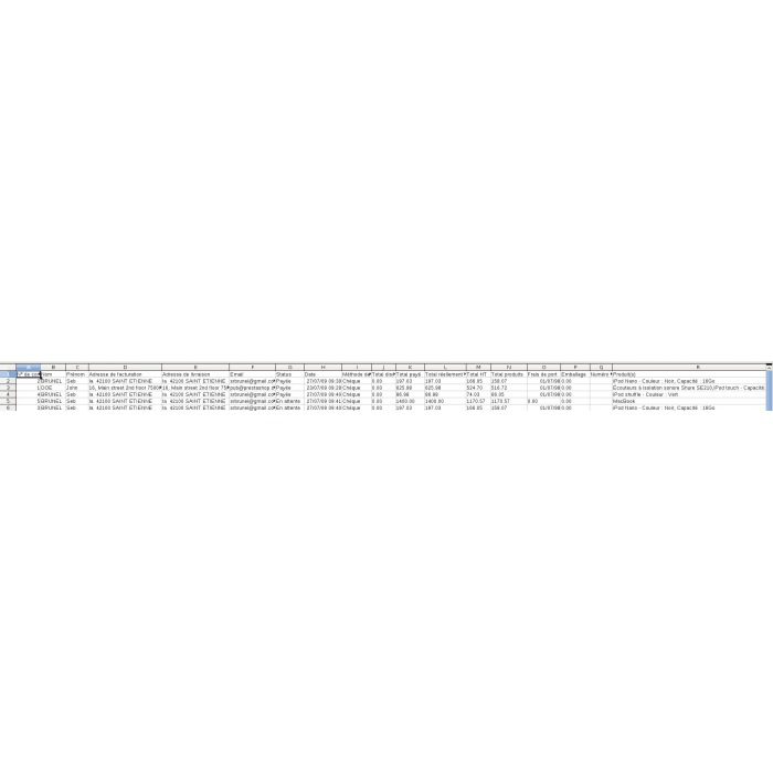 module - Importeren en Exporteren van data - Export orders / customers / catalog - 1