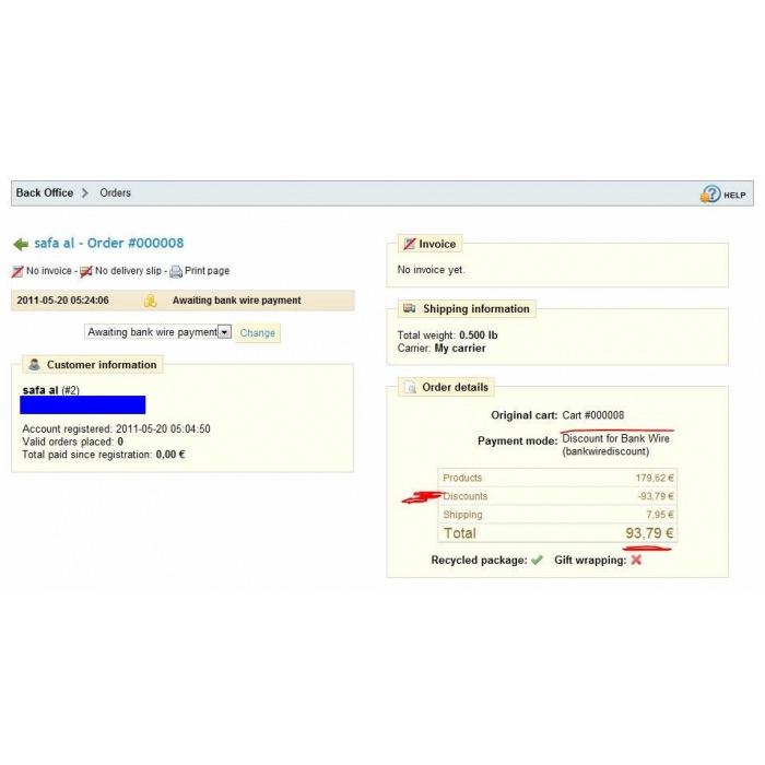 module - Pagamento con Bonifico - Bankwire with Discount - 1