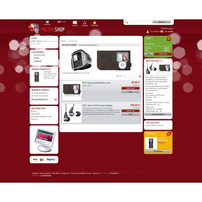 theme - PrestaShop Themen - PrestaShop Christmas 2011 - 2