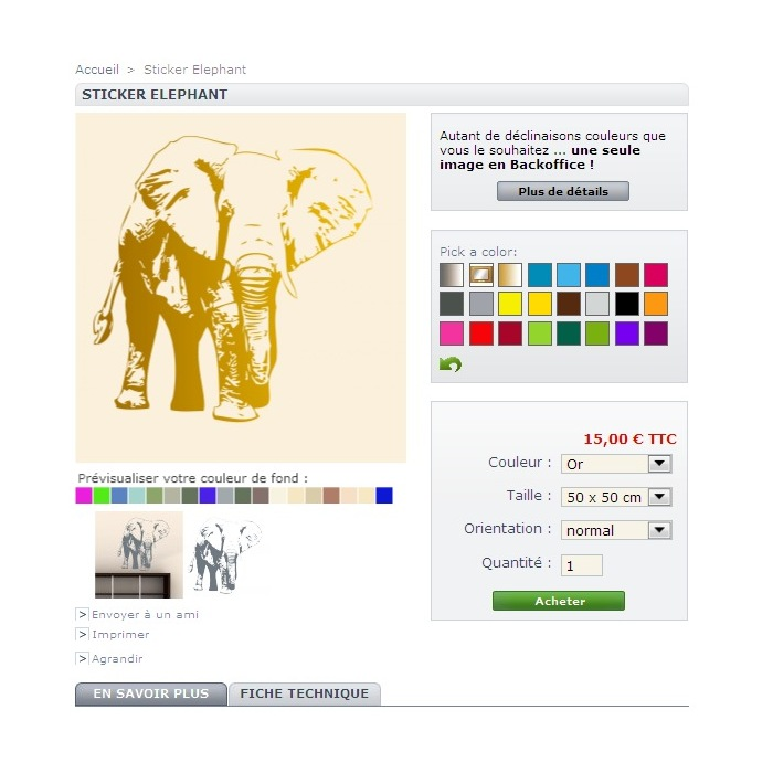 module - Versies & Personalisering van producten - Custom Colors Colorize - 2