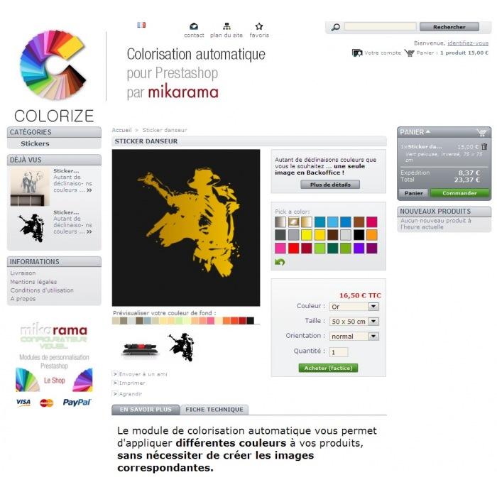 module - Diversificação & Personalização de Produtos - Custom Colors Colorize - 4