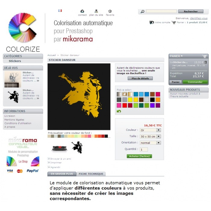module - Versies & Personalisering van producten - Custom Colors Colorize - 4