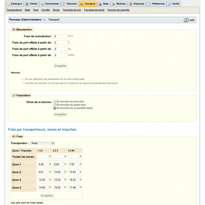 module - Koszty wysyłki - Frais de port en fonction du nombre de produits - 3