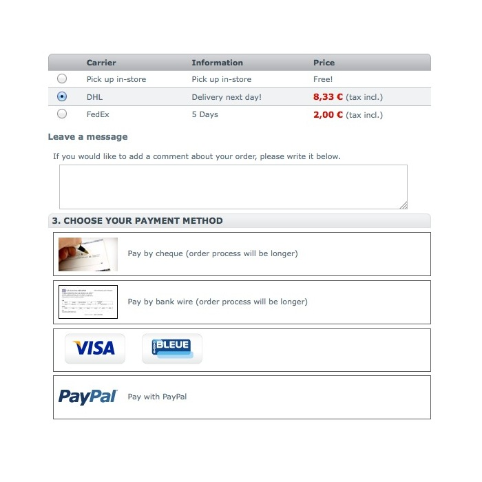 module - Other Payment Methods - Payment by Carrier - 3