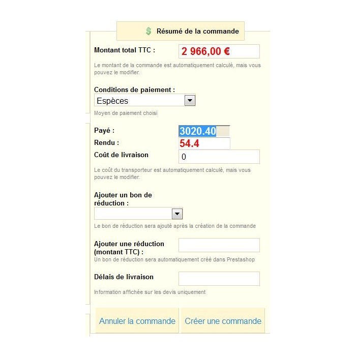 module - Gestione Ordini - Register management, create orders and quote - 5
