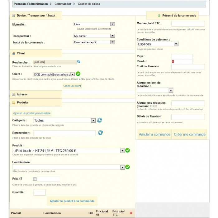 module - Gestione Ordini - Register management, create orders and quote - 10