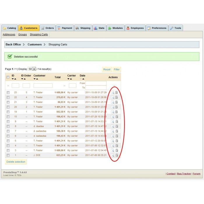 module - Gestión de Pedidos - Delete orders - 8