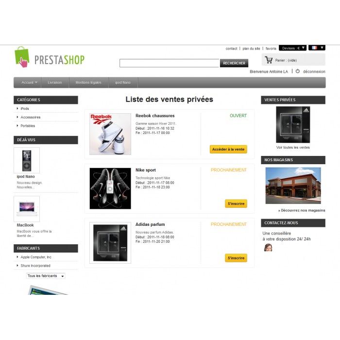 module - Ventes Flash & Ventes Privées - Ventes Privées PrestaShop - 2