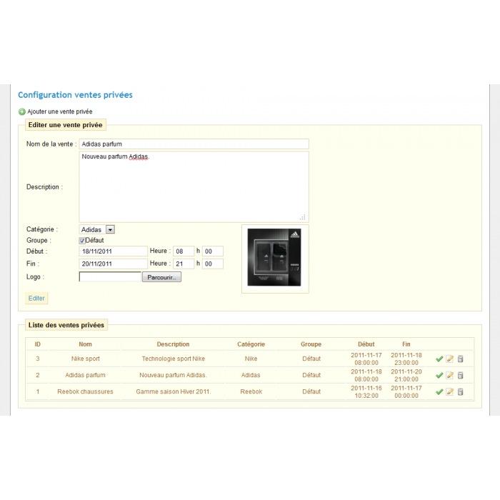 module - Flash & Private Sales - Private Sales PrestaShop - 6
