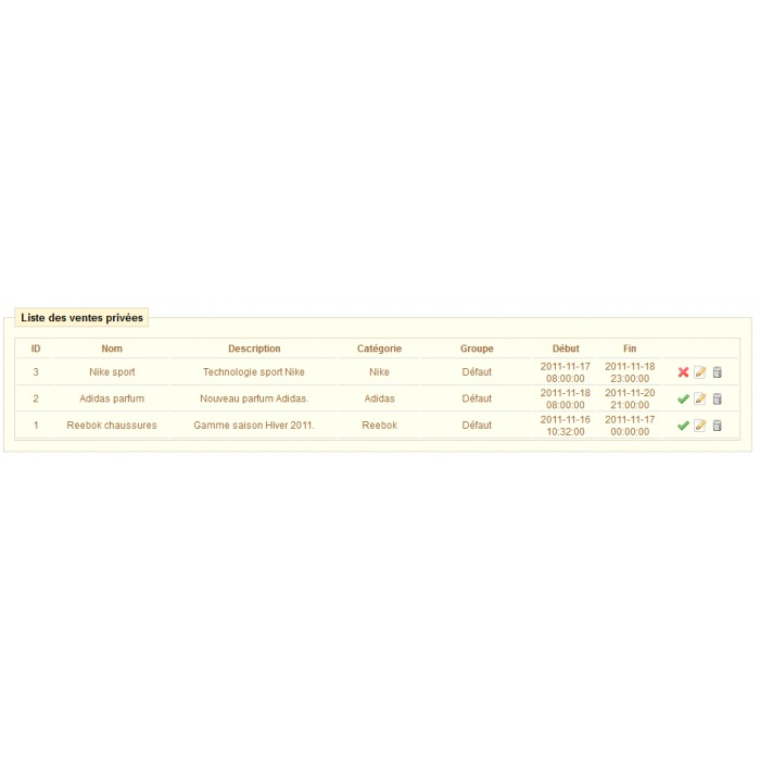 module - Ventes Flash & Ventes Privées - Ventes Privées PrestaShop - 7