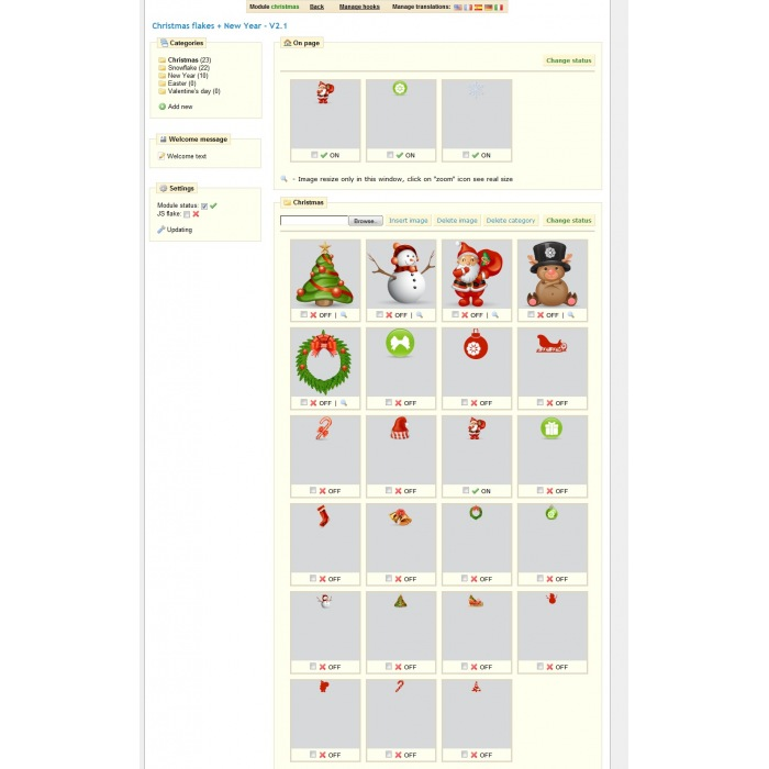 module - Individuelle Seitengestaltung - Christmas flakes + New Year - 1