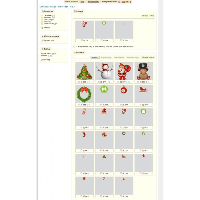 module - Page Customization - Christmas flakes + New Year - 1