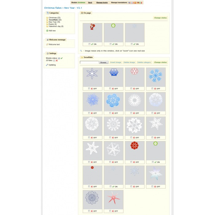 module - Individuelle Seitengestaltung - Christmas flakes + New Year - 2
