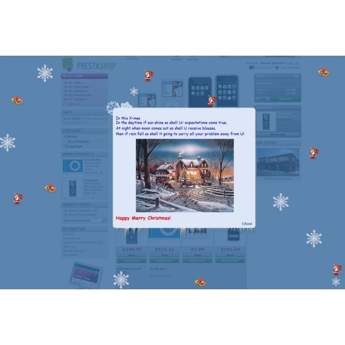 module - Personalização de página - Christmas flakes + New Year - 4