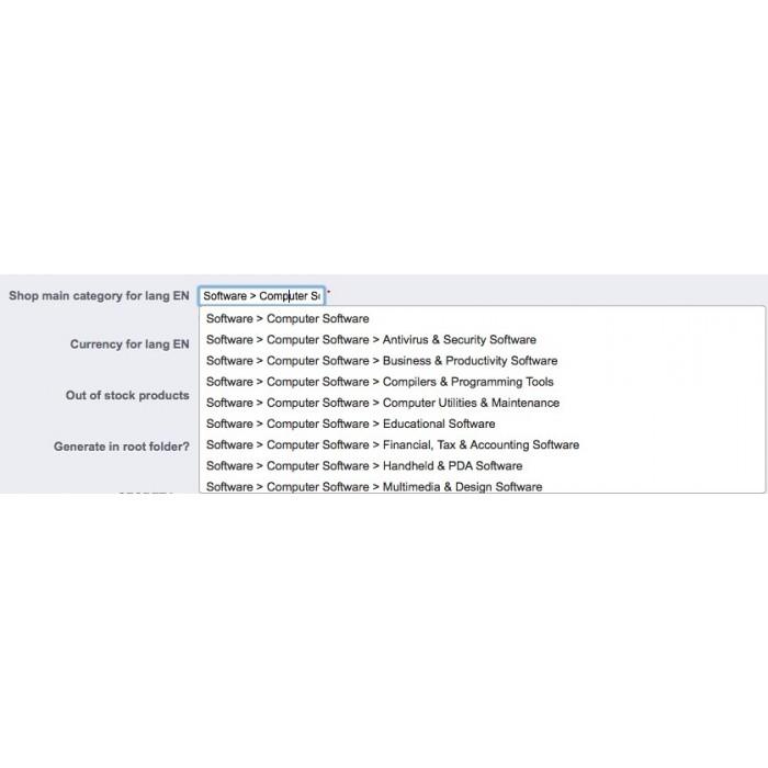 module - Comparateurs de prix - Export Google Shopping - 2