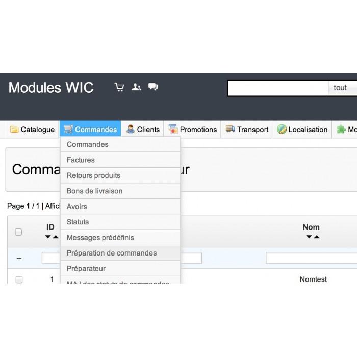 module - Gestion des Commandes - Picking list / Préparation de commandes - 8