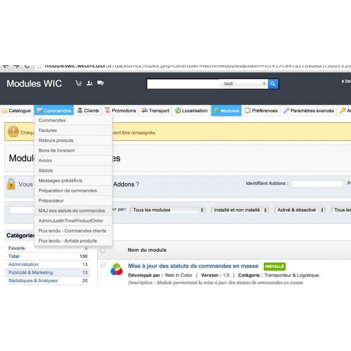 module - Quick Eingabe & Massendatenverwaltung - Mass Order Status Update - 9
