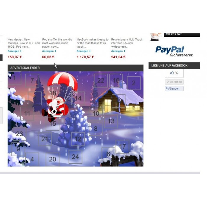 module - Personalisering van pagina's - Advent Calendar / Christmas Calendar / Santa Calendar - 7
