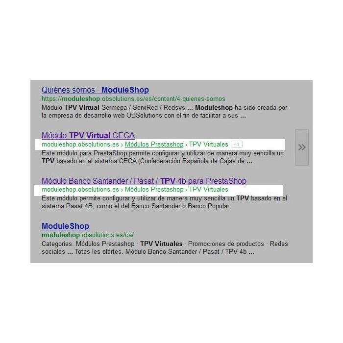 module - SEO (Posicionamiento en buscadores) - Google Rich Snippets Breadcrumbs [schema.org markup] - 1