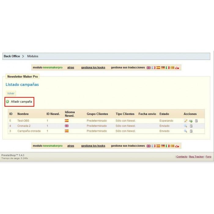 module - Newsletter y SMS - Newsletter Maker Pro - 7