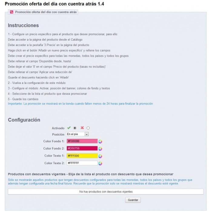 module - Ventas Privadas y Ventas Flash - Oferta del día - Compra exprés - 1