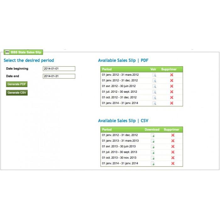 module - Import & Export de données - Bordereau de Recette Export PDF & CSV - 8