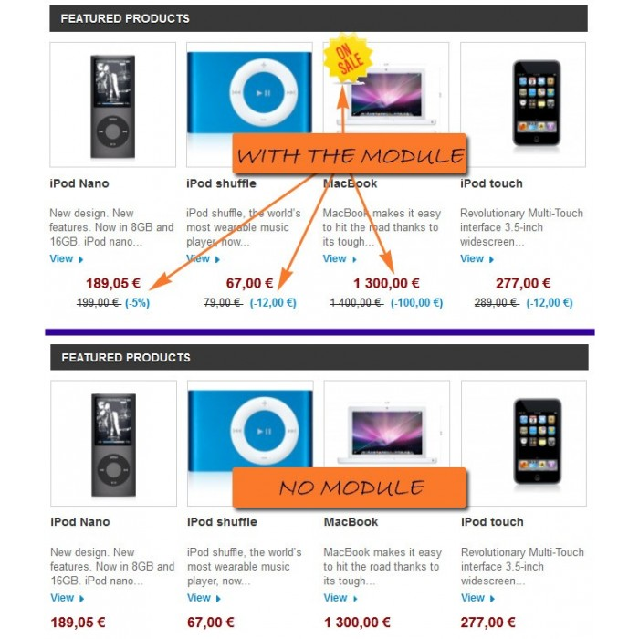 module - Gestión de Precios - Homepage Special strikethrough price / random display - 1