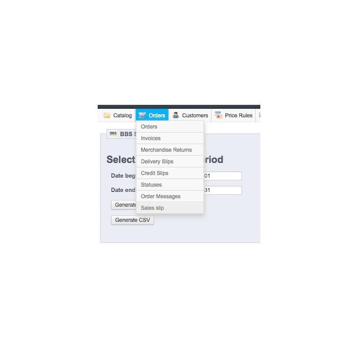 module - Importación y Exportación de datos - Sales Slip Export PDF & CSV - 6