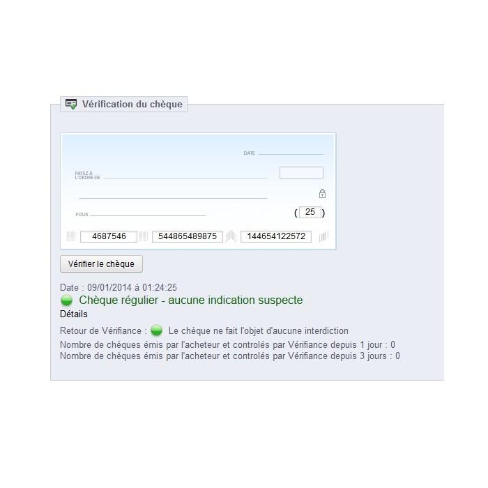 module - Security & Access - Antifraude for cheques via Banque de France - 1