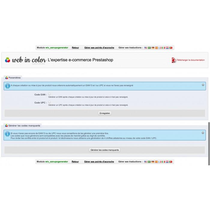 module - Bestands & Lieferantenmanagement - EAN and UPC codes Generator - 3