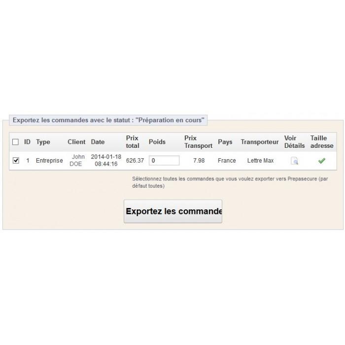 module - Préparation & Expédition - Presta2Prepasecure - 3