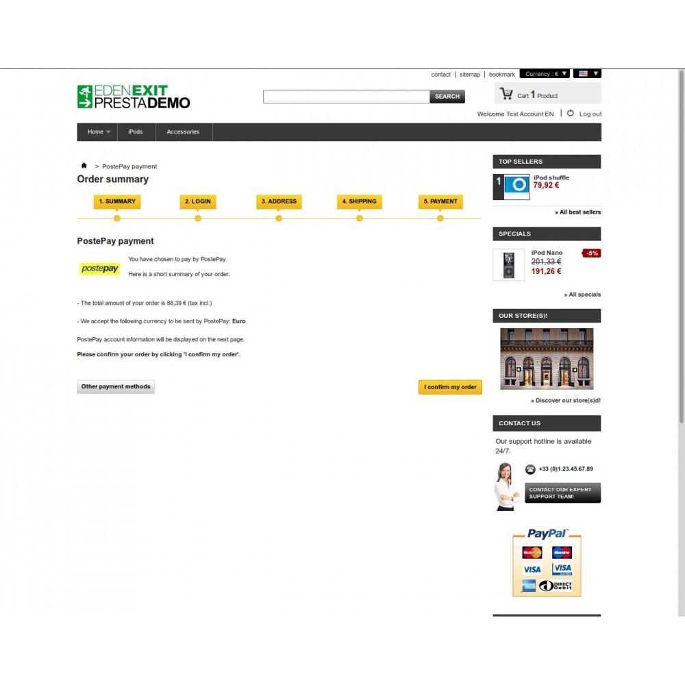 module - Vooruitbetaling - PostePay - 4