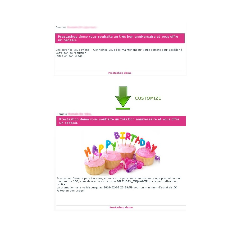 module - Loyaliteitsprogramma - Happy Birthday - sending coupon automatic way - 10